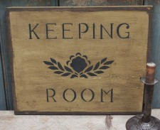 Primitive Wood Sign - Keeping Room