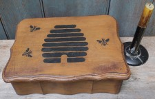 Primitive Wood Box - Bee Skep