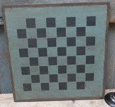 Primitive Large Checkerboard Sign - Cupboard Blue