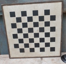 Primitive Large Checkerboard Sign - Gray Stone